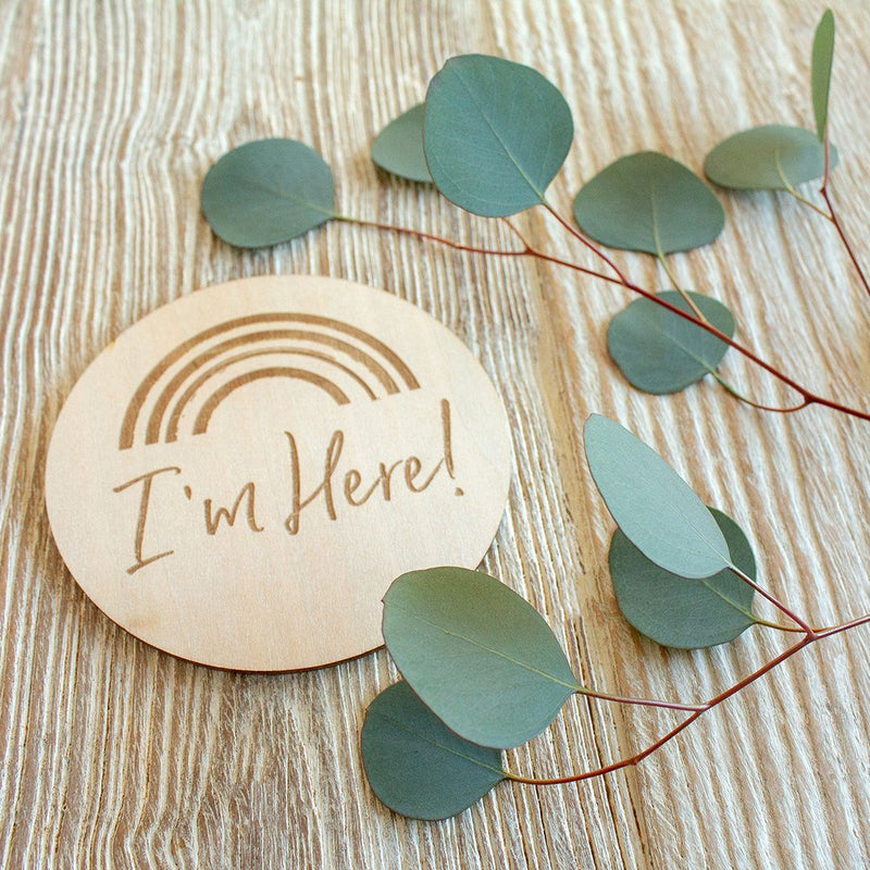I'm Here Wooden Keepsake Disc - Project Nursery