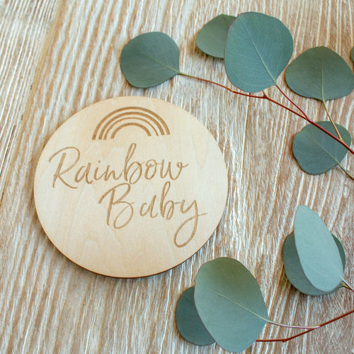 Rainbow Baby Wooden Keepsake Disc - Project Nursery