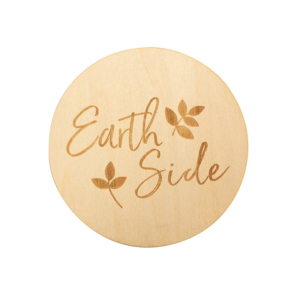 Earth Side Wooden Keepsake Disc - Project Nursery