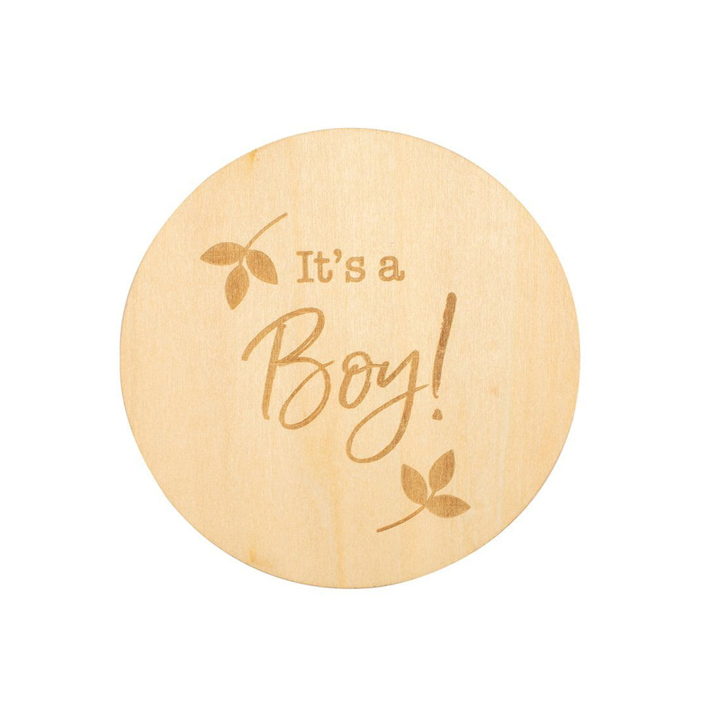 It's A Boy Wooden Keepsake Disc - Project Nursery