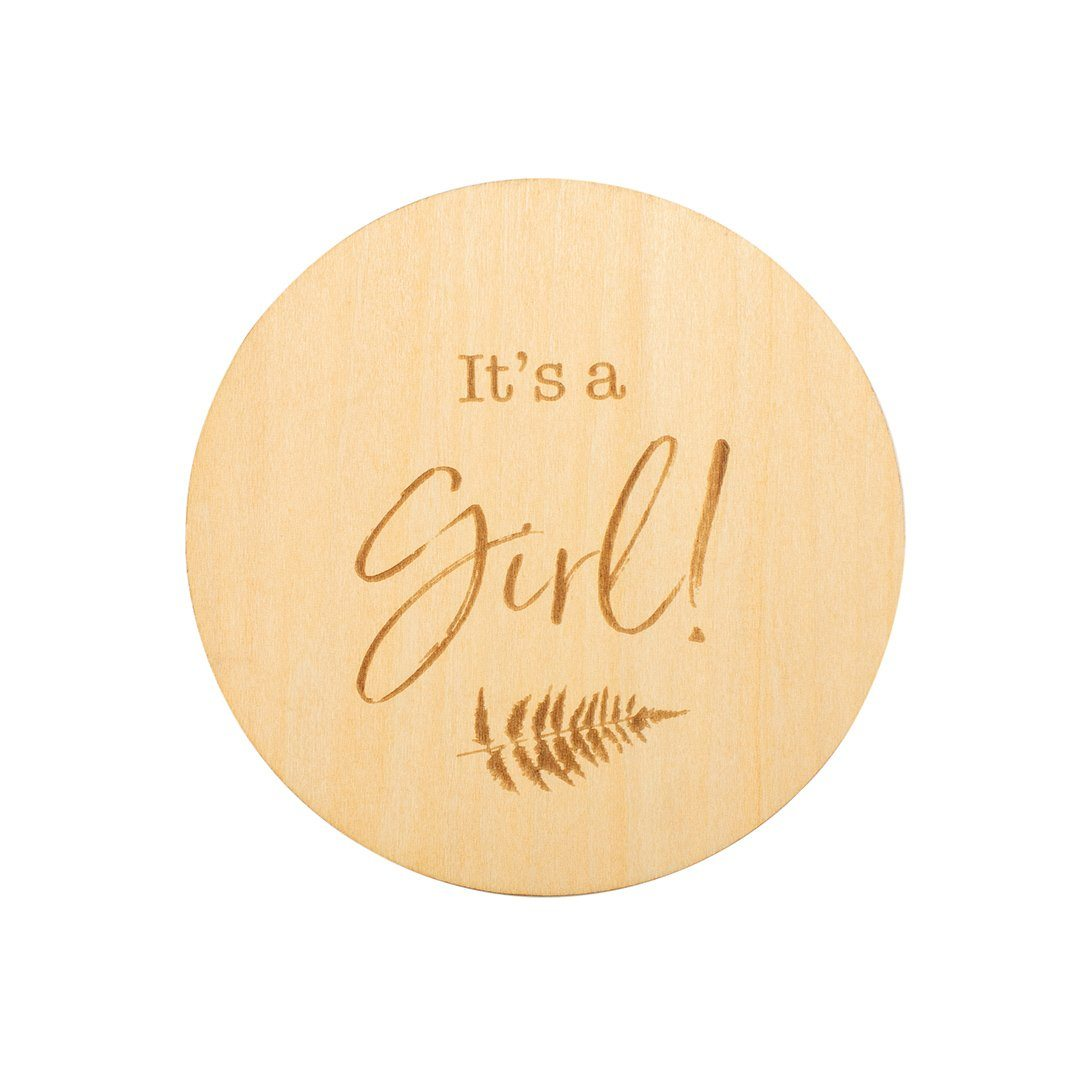 It's A Girl Wooden Keepsake Disc - Project Nursery