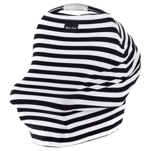 Black and White Signature Stripe Milk Snob Cover - Project Nursery