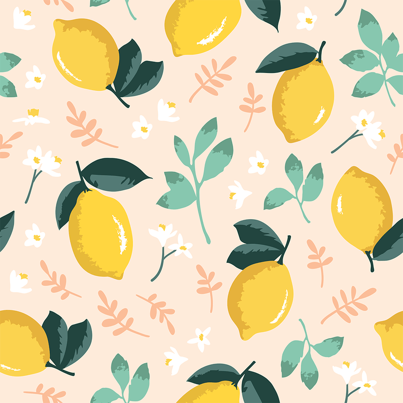 Mint Lemon Mural Wallpaper - Project Nursery
