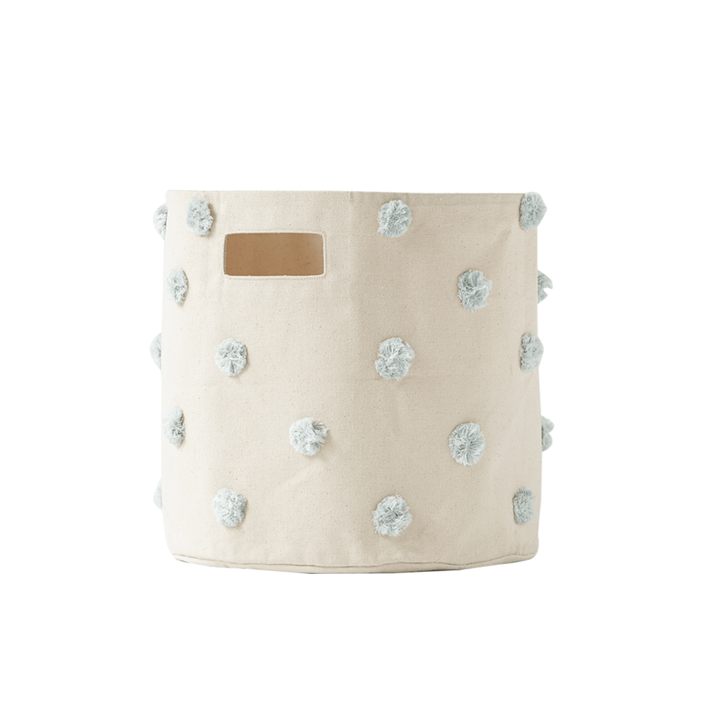 Pom Pom Storage Bin Mist - The Project Nursery Shop - 3