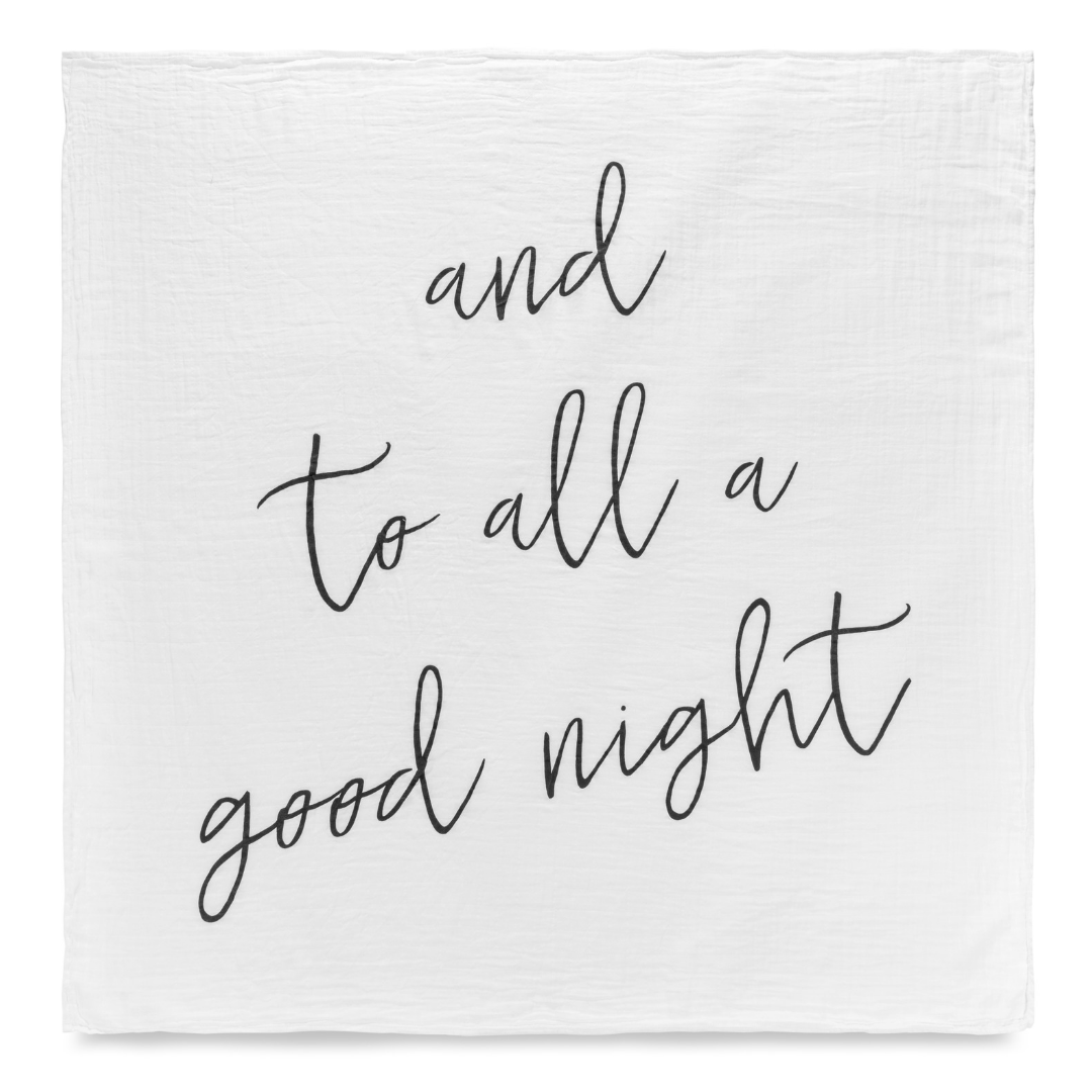 And To All a Good Night Organic Swaddle - Project Nursery