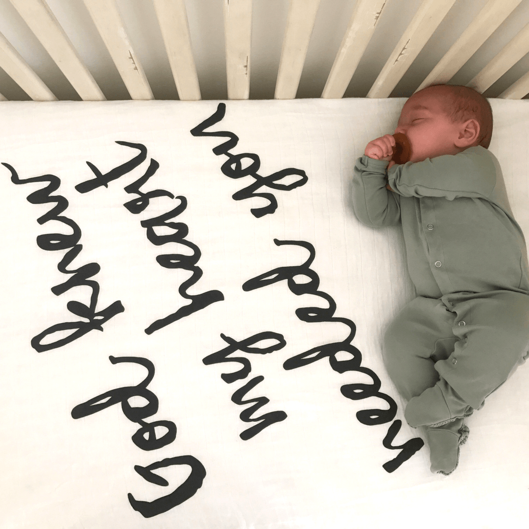God Knew My Heart Needed You Organic Crib Sheet - Project Nursery