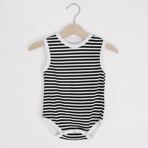 Striped Organic Tank Bodysuit - Project Nursery