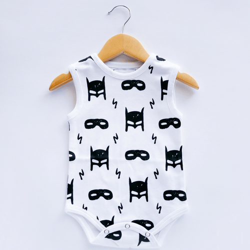 Hero Struck Organic Tank Bodysuit - Project Nursery