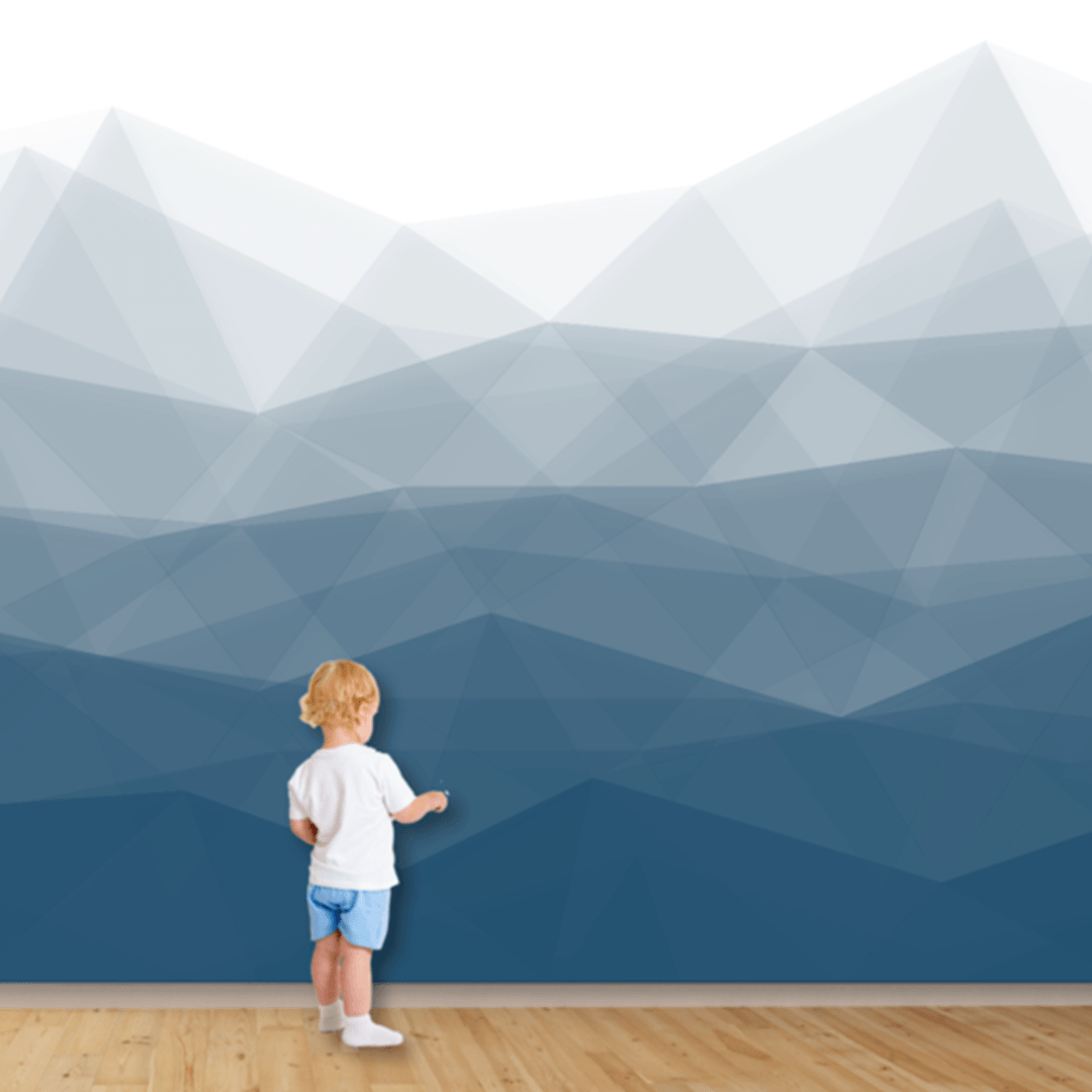Modern Mountain Wall Mural - Project Nursery