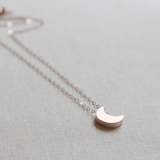 Moon Necklace in Rose Gold  - The Project Nursery Shop - 2