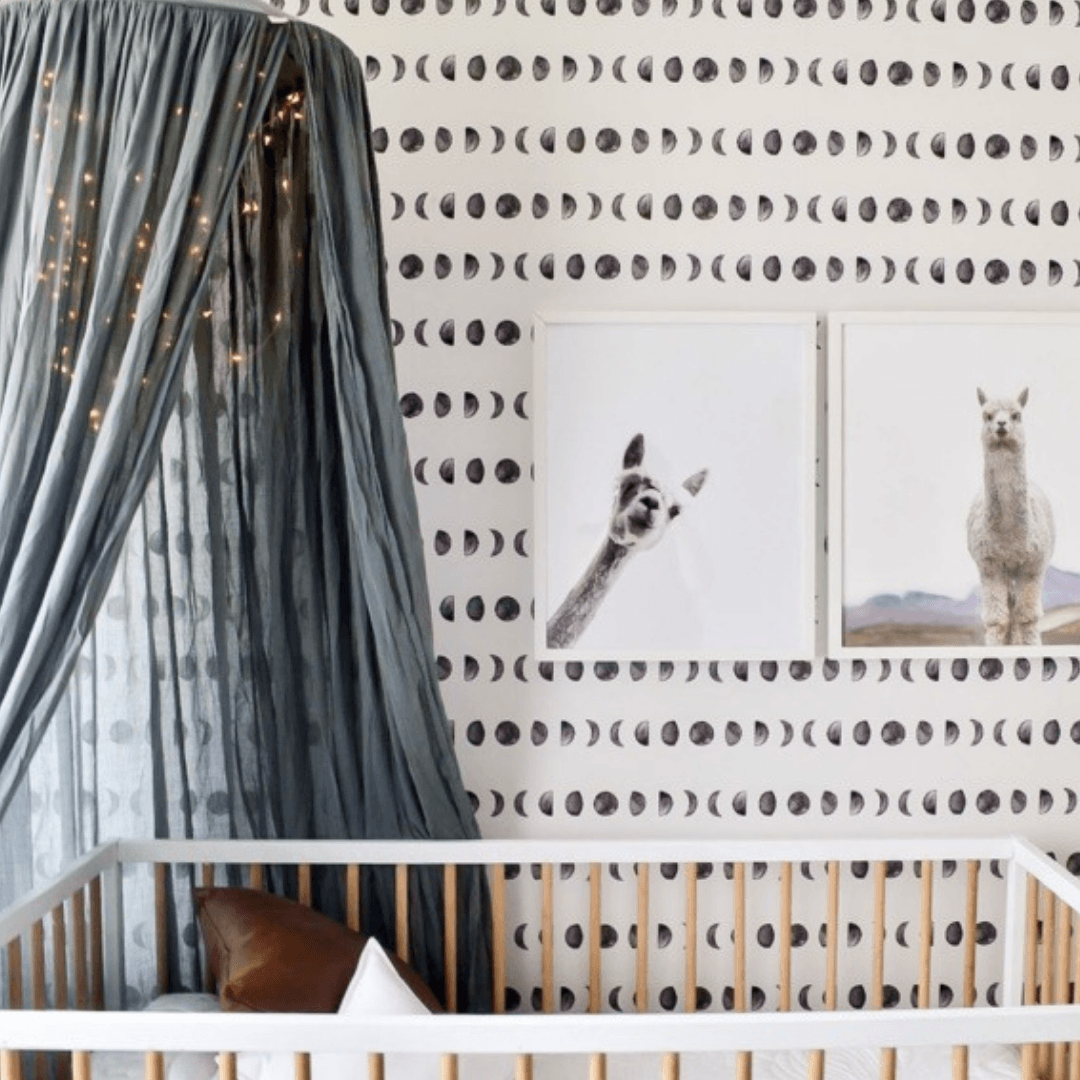 Moon Phase Self-Adhesive Wallpaper - Project Nursery