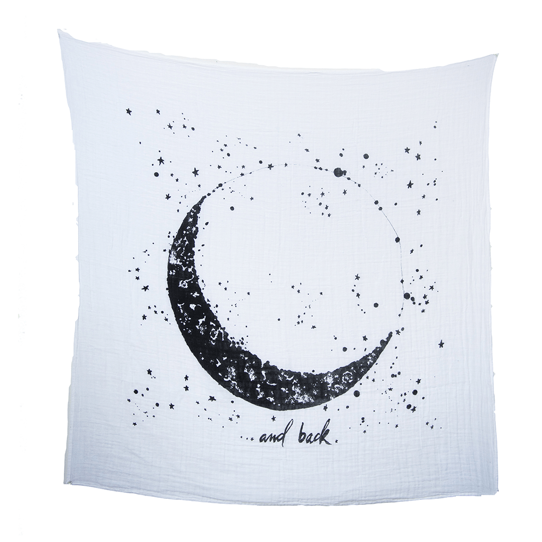 Organic Cotton Gauze Moon and Back Swaddle - Project Nursery