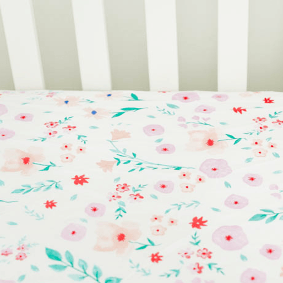 Percale Crib Sheet in Morning Glory - Project Nursery
