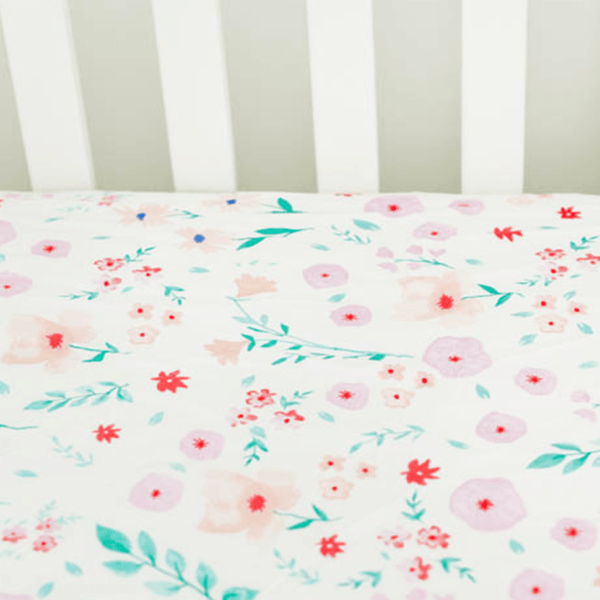 Percale Crib Sheet In Morning Glory Project Nursery