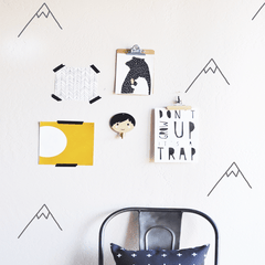 Die Cut Mountains Wall Decal - Project Nursery