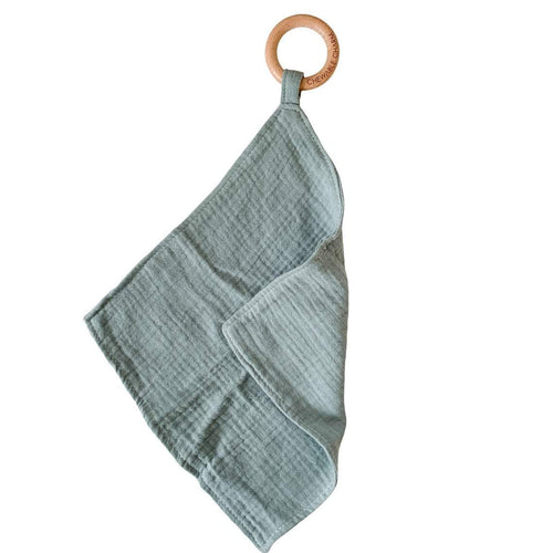 Muslin Teething Ring - Sage - Project Nursery