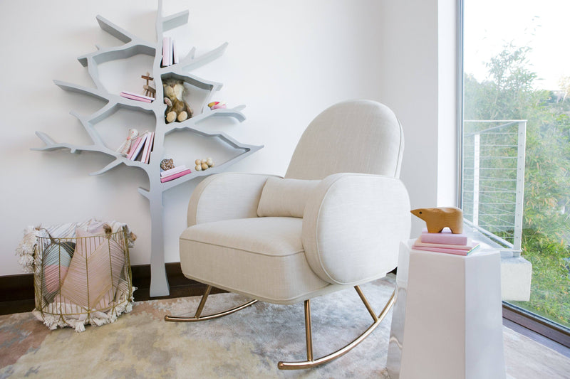 Compass Rocker with Rose Gold Legs - Project Nursery