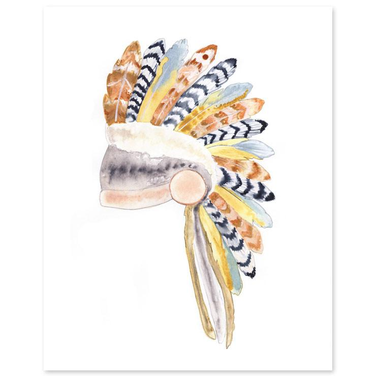 Native American Headdress Print  - The Project Nursery Shop