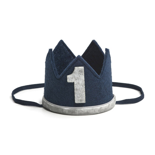 Birthday Boy Party Crown - Navy + Gray - Project Nursery