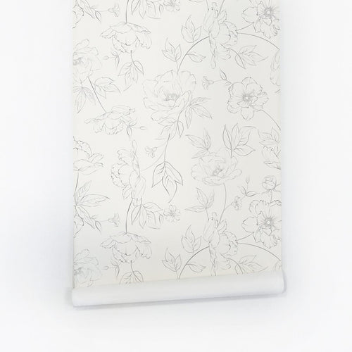 Subtle Floral Wallpaper - Project Nursery