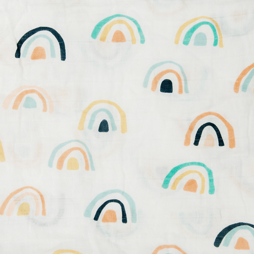 Neutral Rainbow Swaddle Blanket - Project Nursery