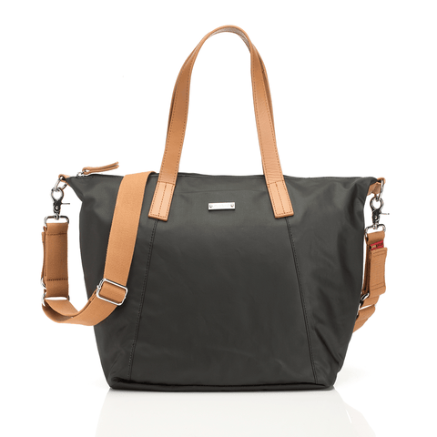 Retro Diaper Bag in Black Olive