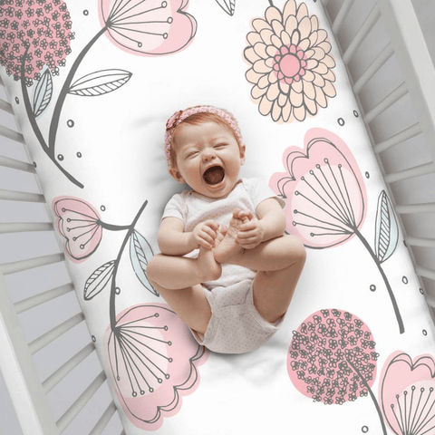 Woodland Floral Wreath Crib Sheet
