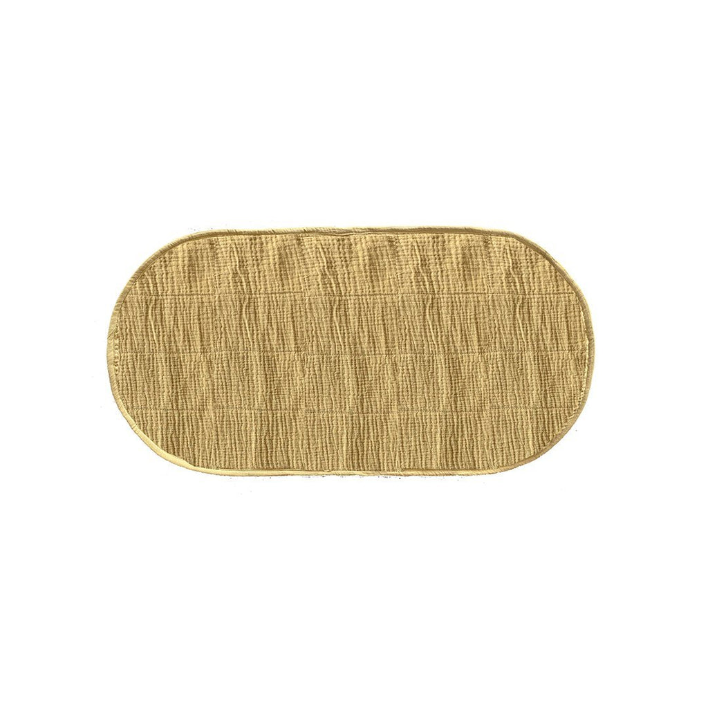 Luxe Organic Cotton Changing Basket Liner - Mustard - Project Nursery