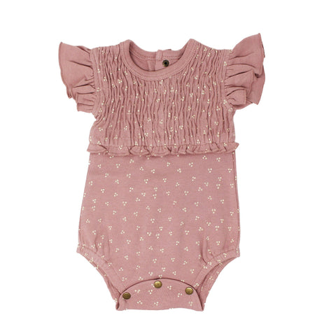 Kids Organic Cotton Pointelle Halter Tank - Mauve