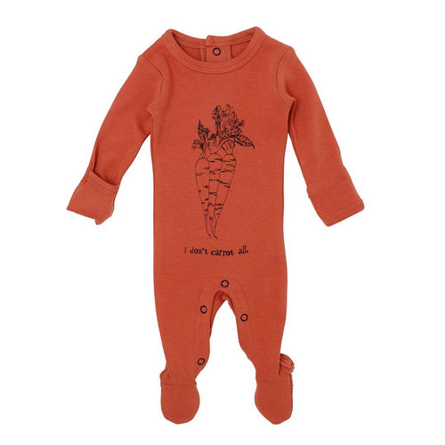 Carrot Organic Graphic Footie - Project Nursery
