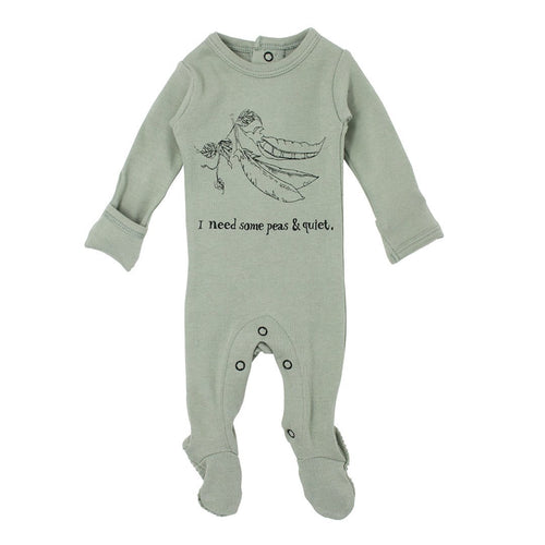 Peas Organic Graphic Footie - Project Nursery