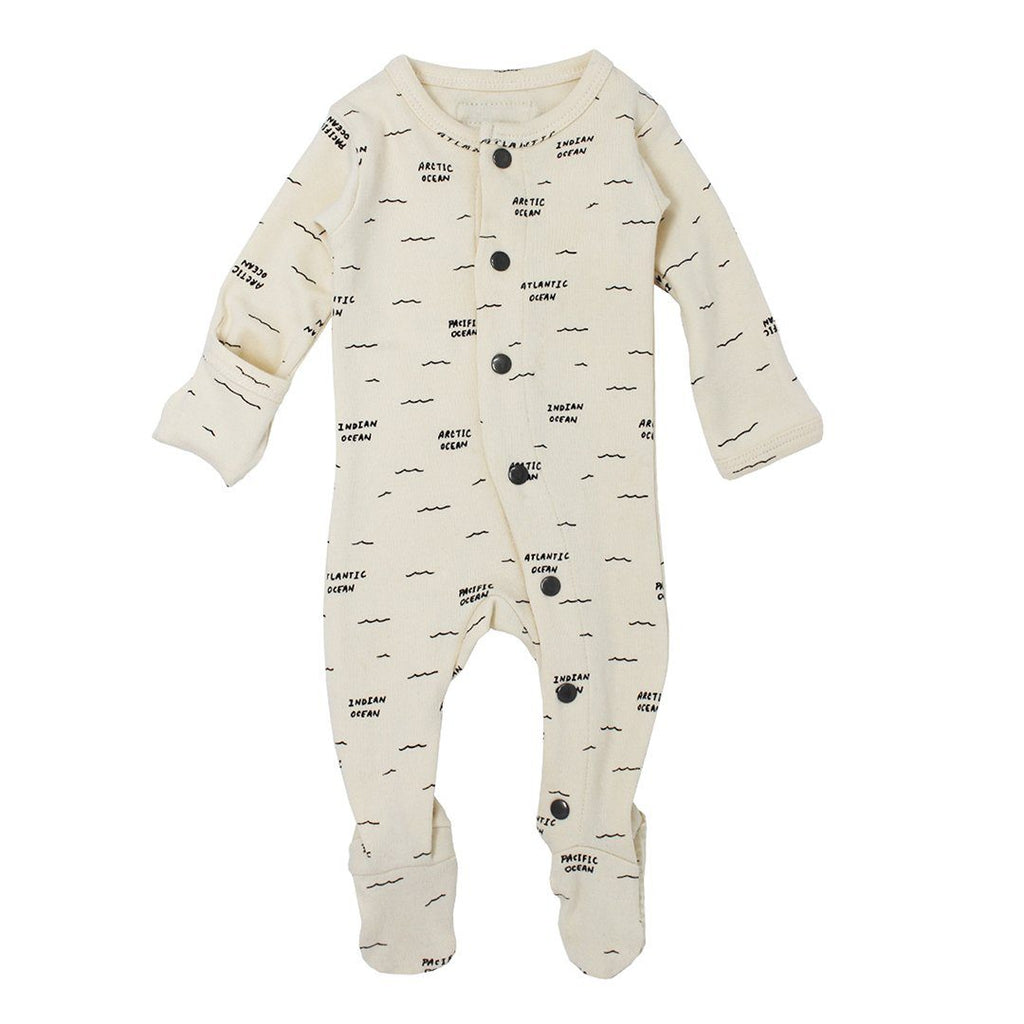 Beige Seas Organic Footed Overall - Project Nursery