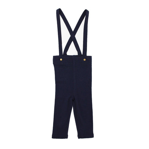 Organic Suspender Pant in Navy - Project Nursery