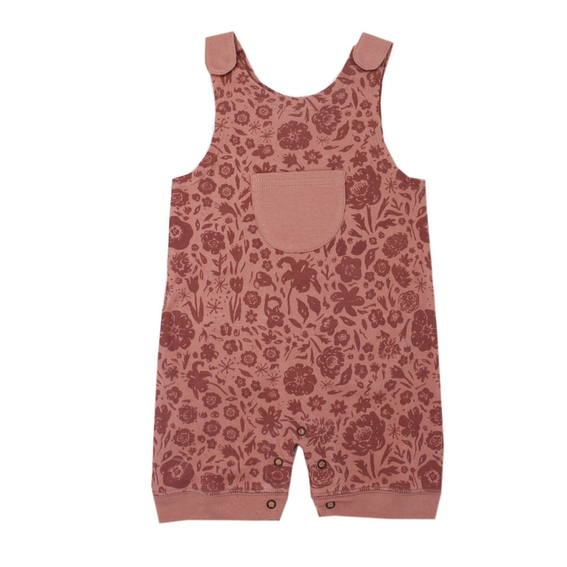 What in Carnation Organic Short-Sleeve Romper - Project Nursery