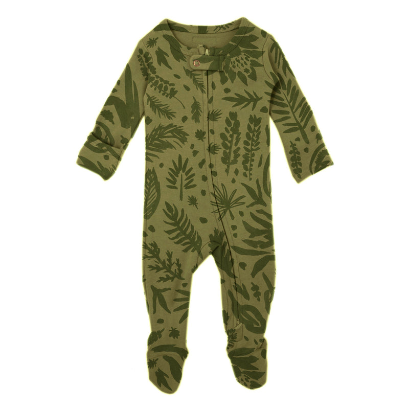 Get Clover It Organic Footed Overall - Sage - Project Nursery