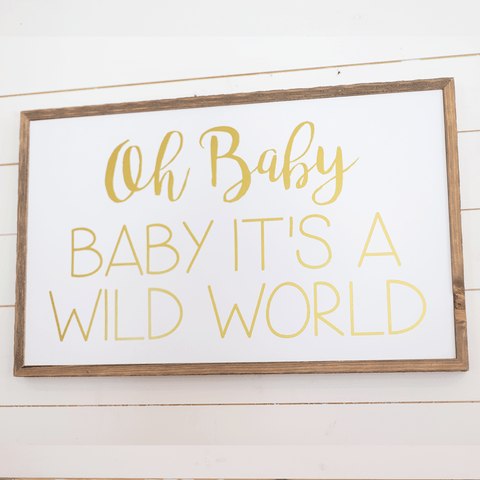Babe Asleep Baby Door Sign