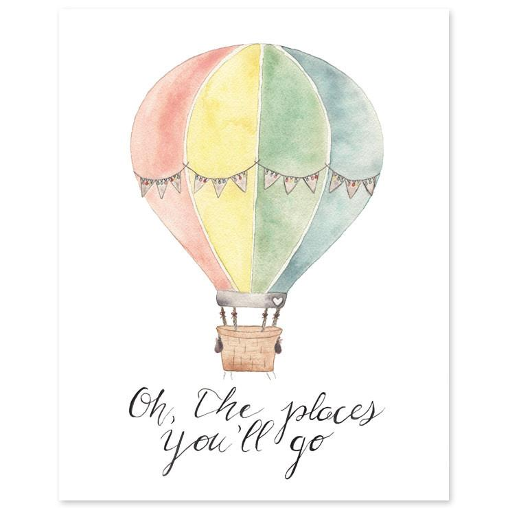 oh the places you ll go print project nursery
