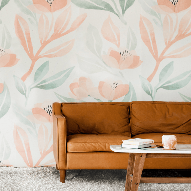 Orange Blossoms Wallpaper Mural - Project Nursery