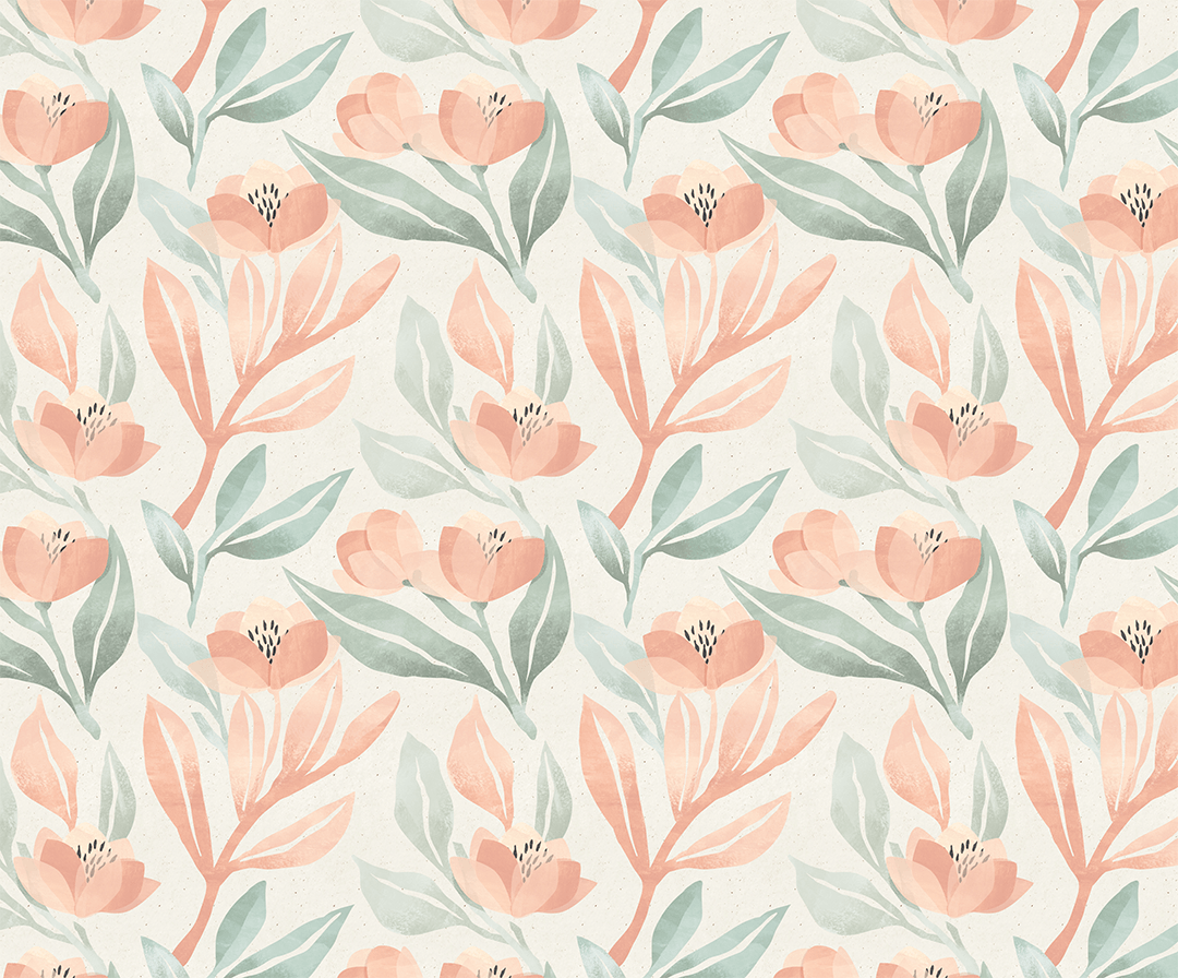 Orange Blossoms Wallpaper Mural Project Nursery
