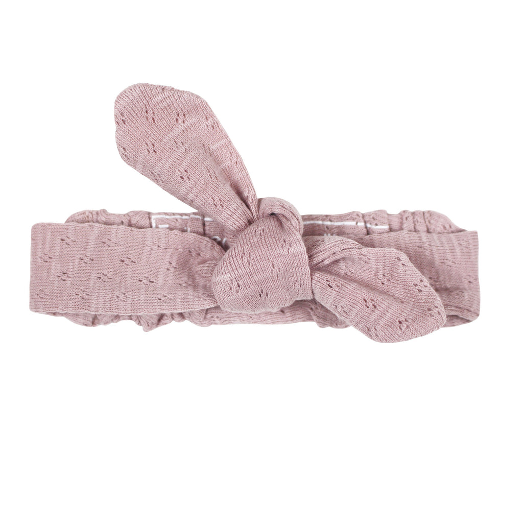 Organic Pointelle Tie Headband - Thistle - Project Nursery