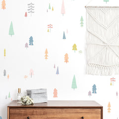 Hand-Drawn Forest Compilation Wall Decal Set - Pastel - Project Nursery