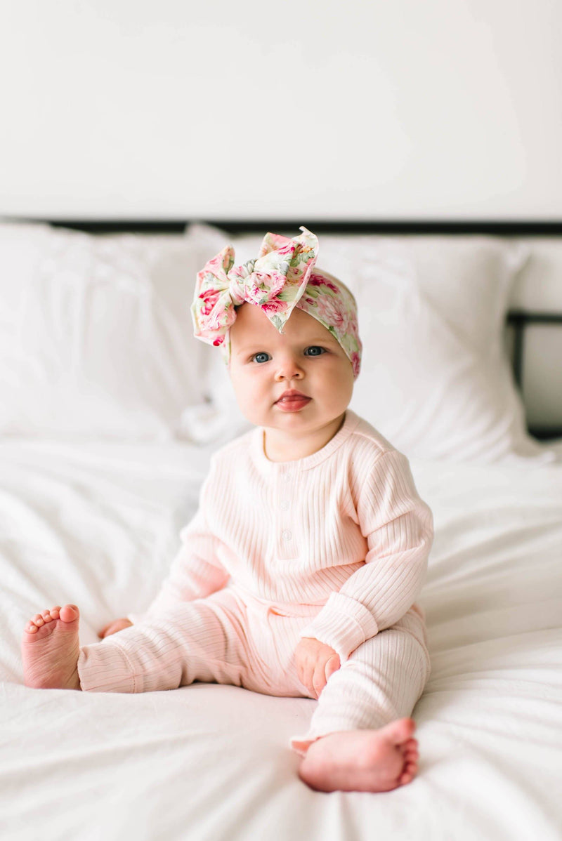 Bed of Roses Printed Knot Headband - Project Nursery