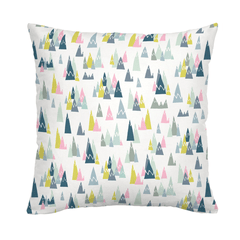 Pink Mountains Throw Pillow - Project Nursery