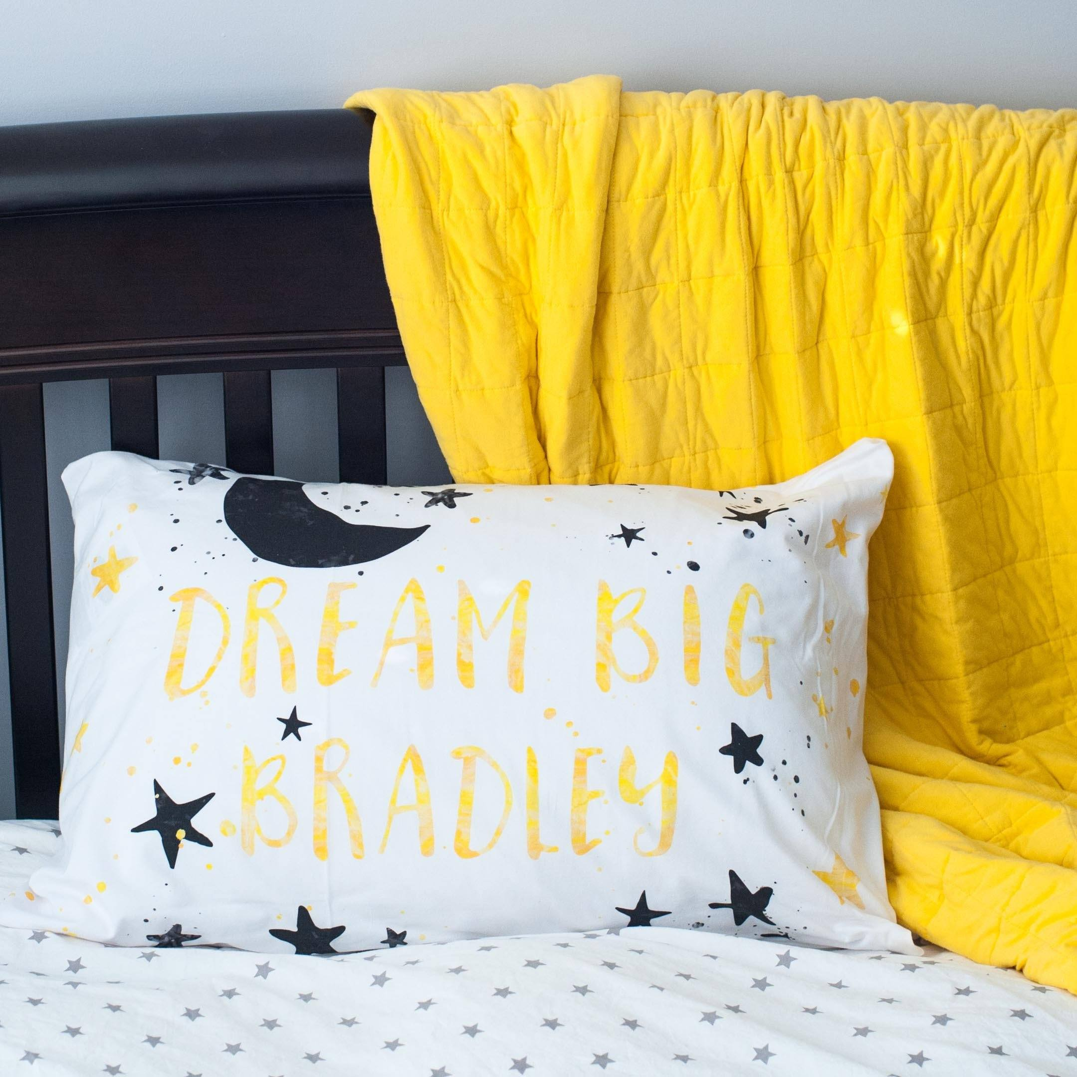 Personalized Dream Big Pillowcase - Project Nursery