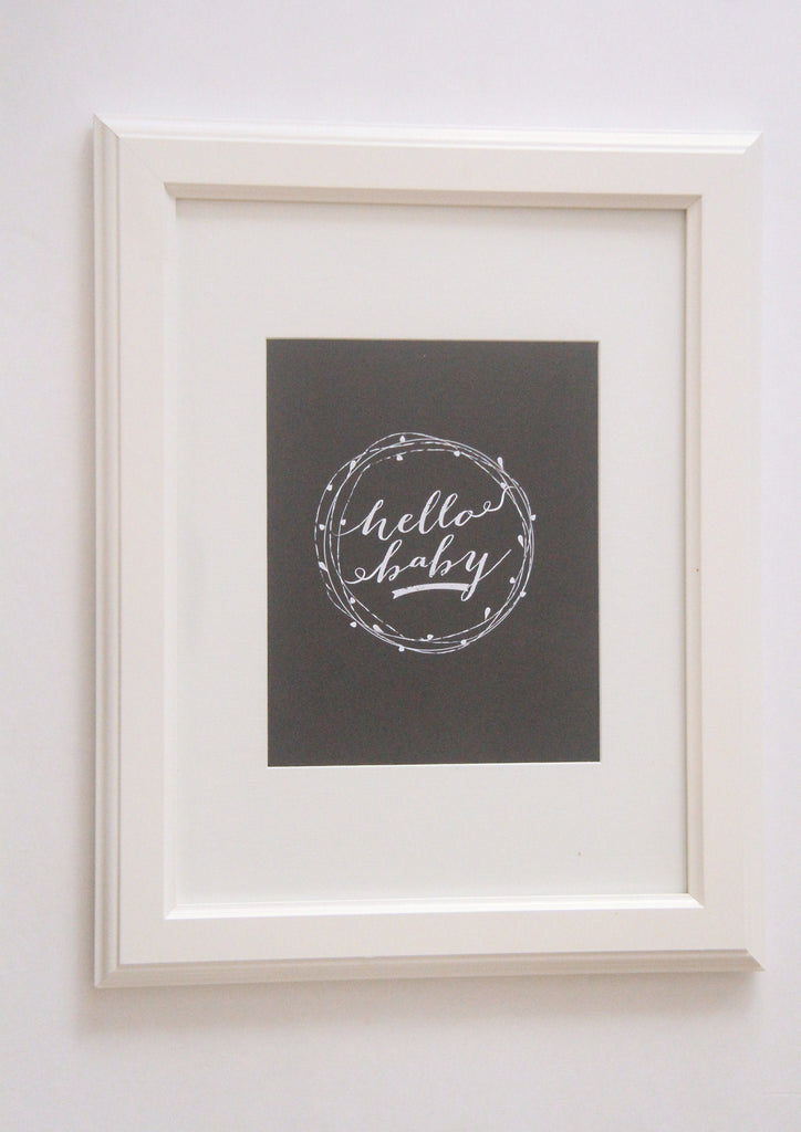 Hello Baby Print  - The Project Nursery Shop - 3