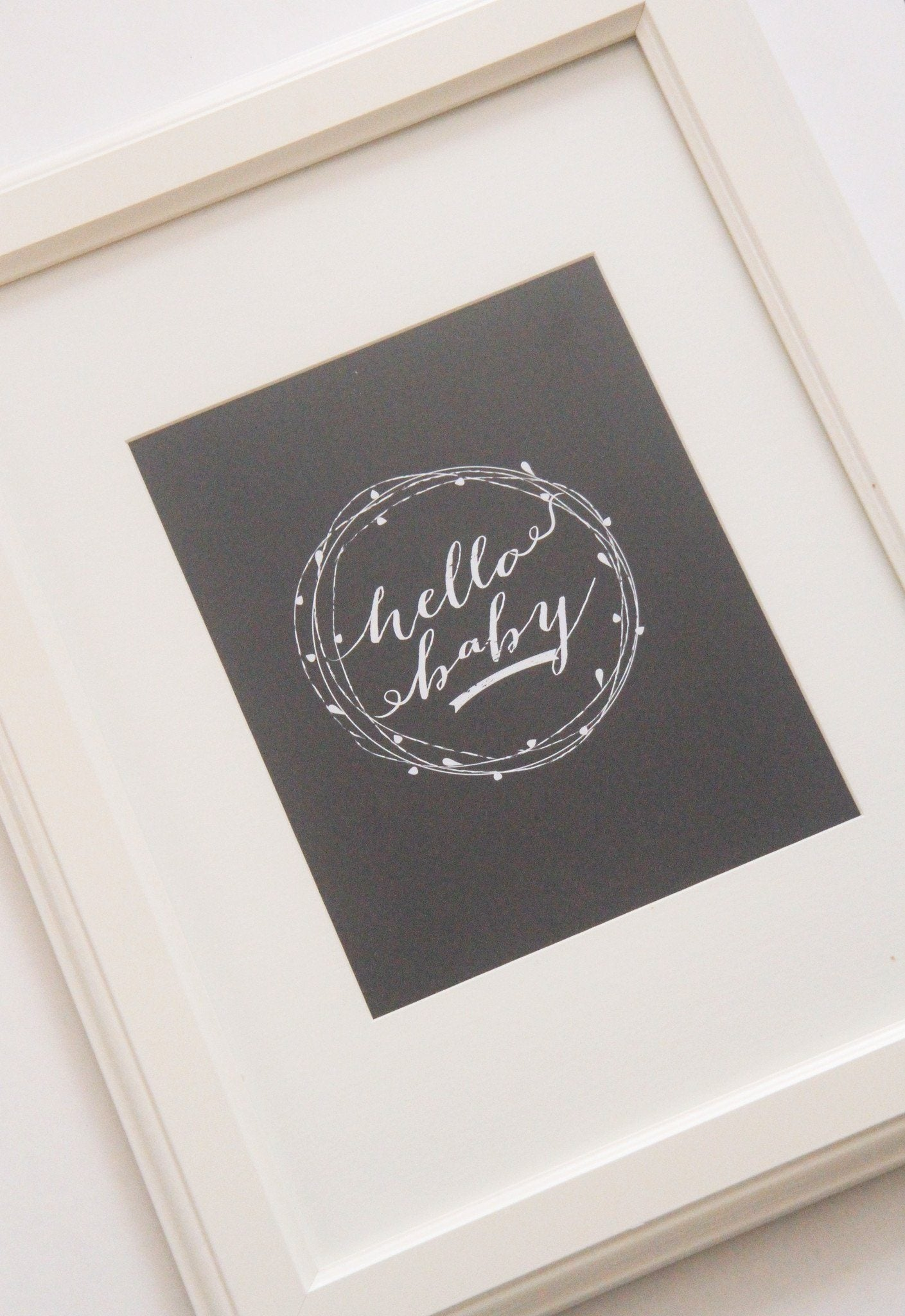 Hello Baby Print - Project Nursery