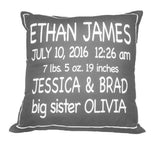 Birth Announcement Pillow  - The Project Nursery Shop - 4