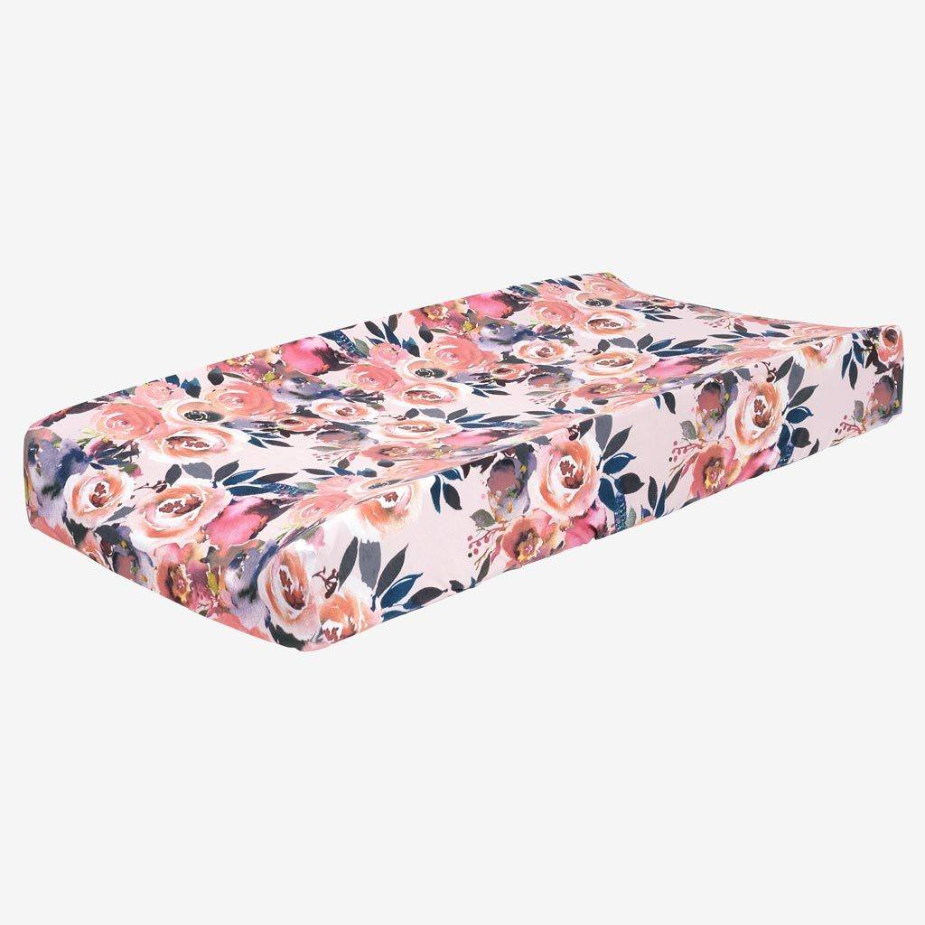 Dusk Rose Changing Pad Cover - Project Nursery