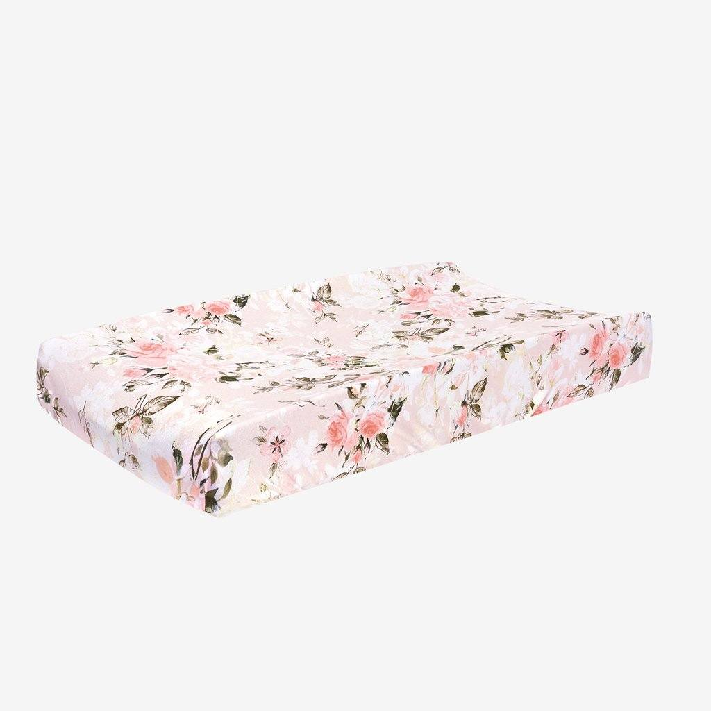 Vintage Pink Rose Changing Pad Cover - Project Nursery