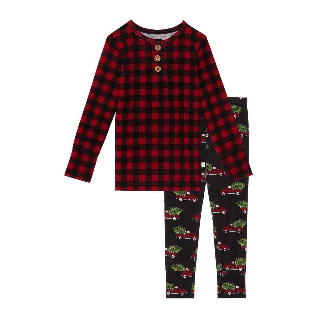 Levi Longsleeve Henley Toddler Loungewear - Project Nursery